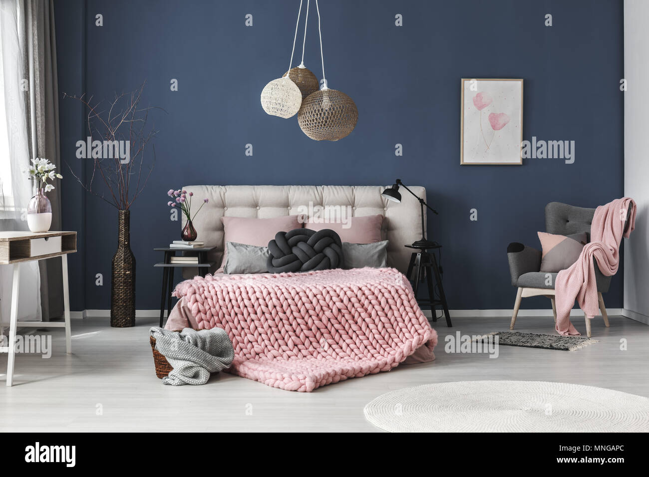 Bright Spacious Room With Cute Decorations And Poster