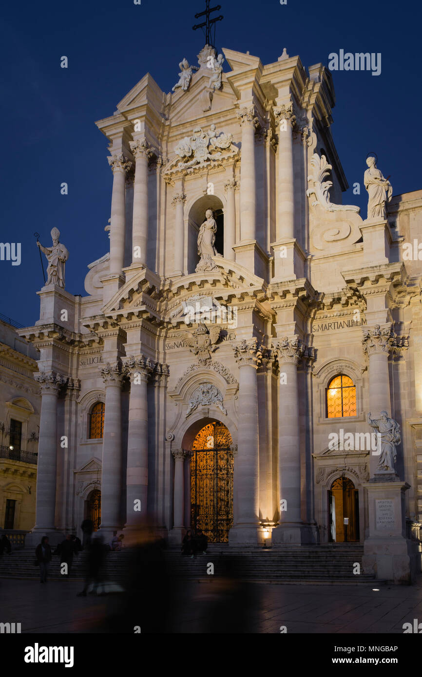 Cathedral (Duomo) of Siracusa, Sicily, Italy. - Stock Image