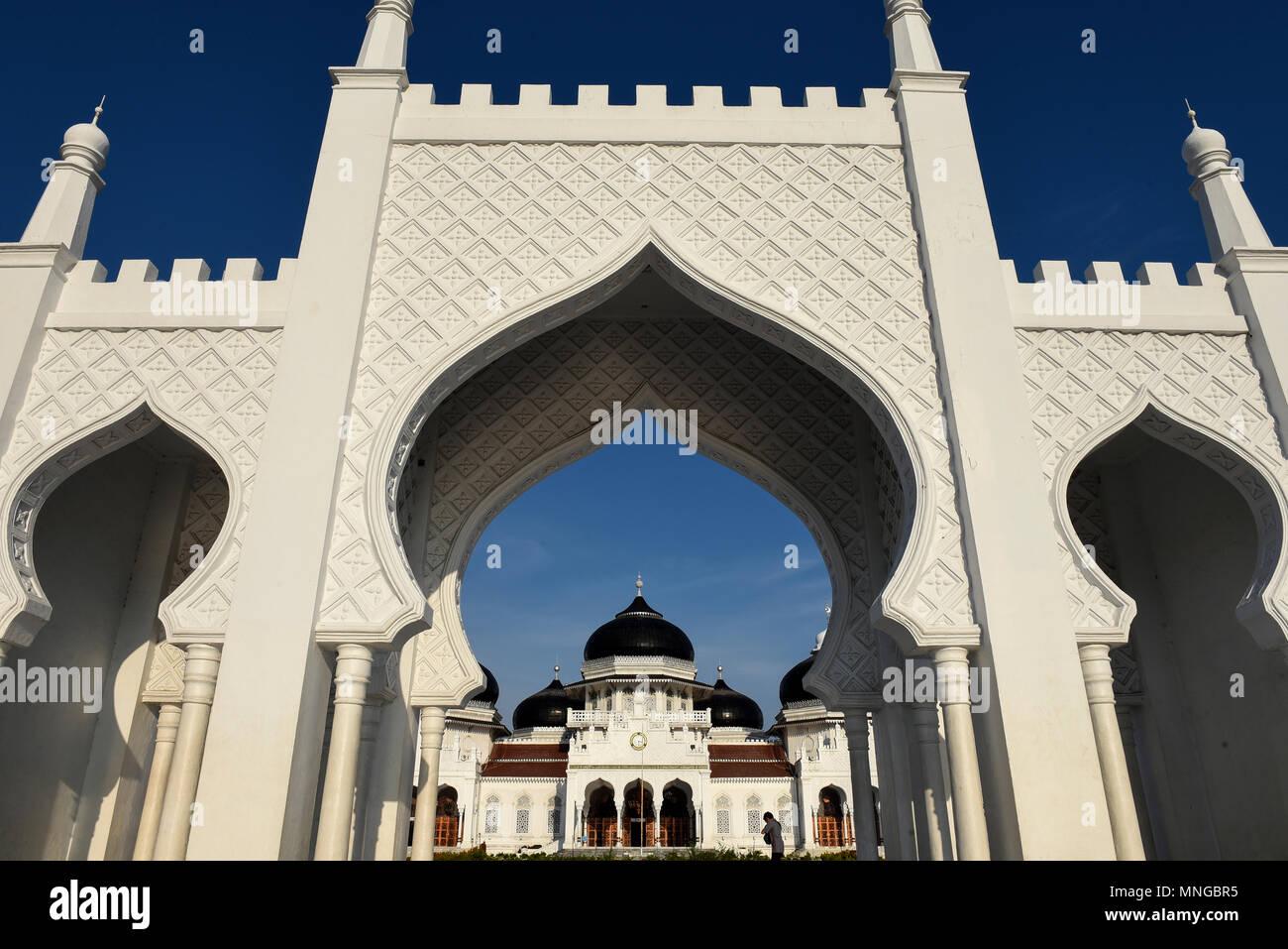 Baiturrahman Grand Mosque Stock Photo
