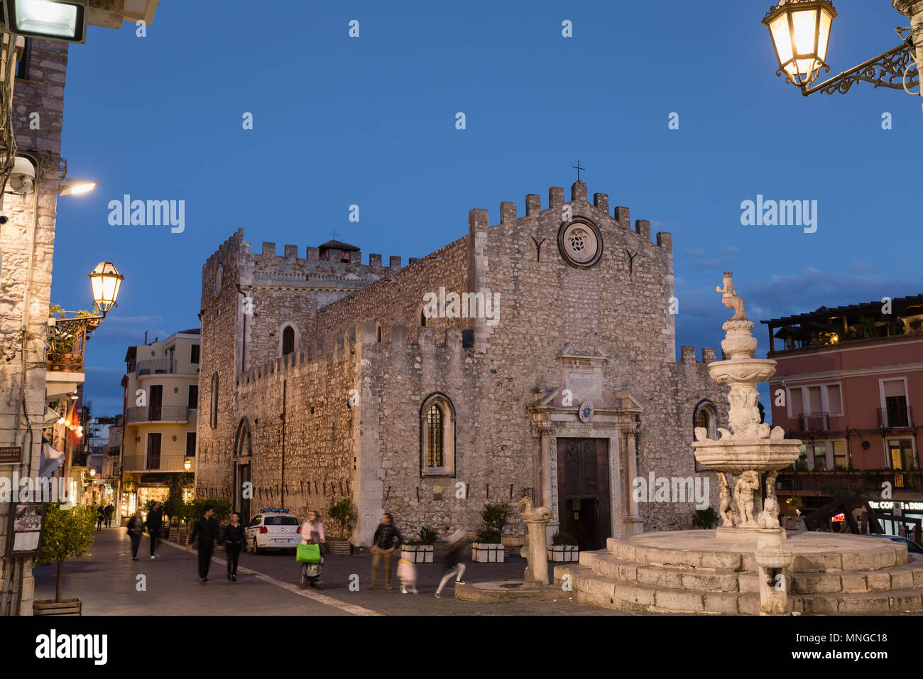 Duomo (Cathedral) of Taormina, Sicily. - Stock Image