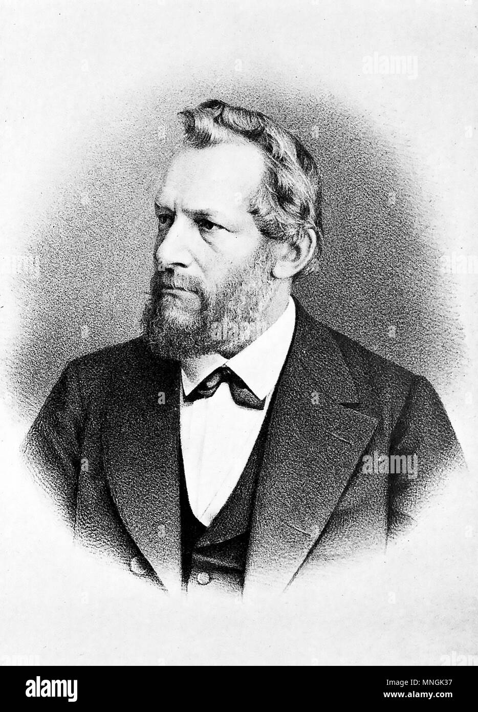 EMIL du BOIS-REYMOND (1818-1896) German physician and physiologist - Stock Image