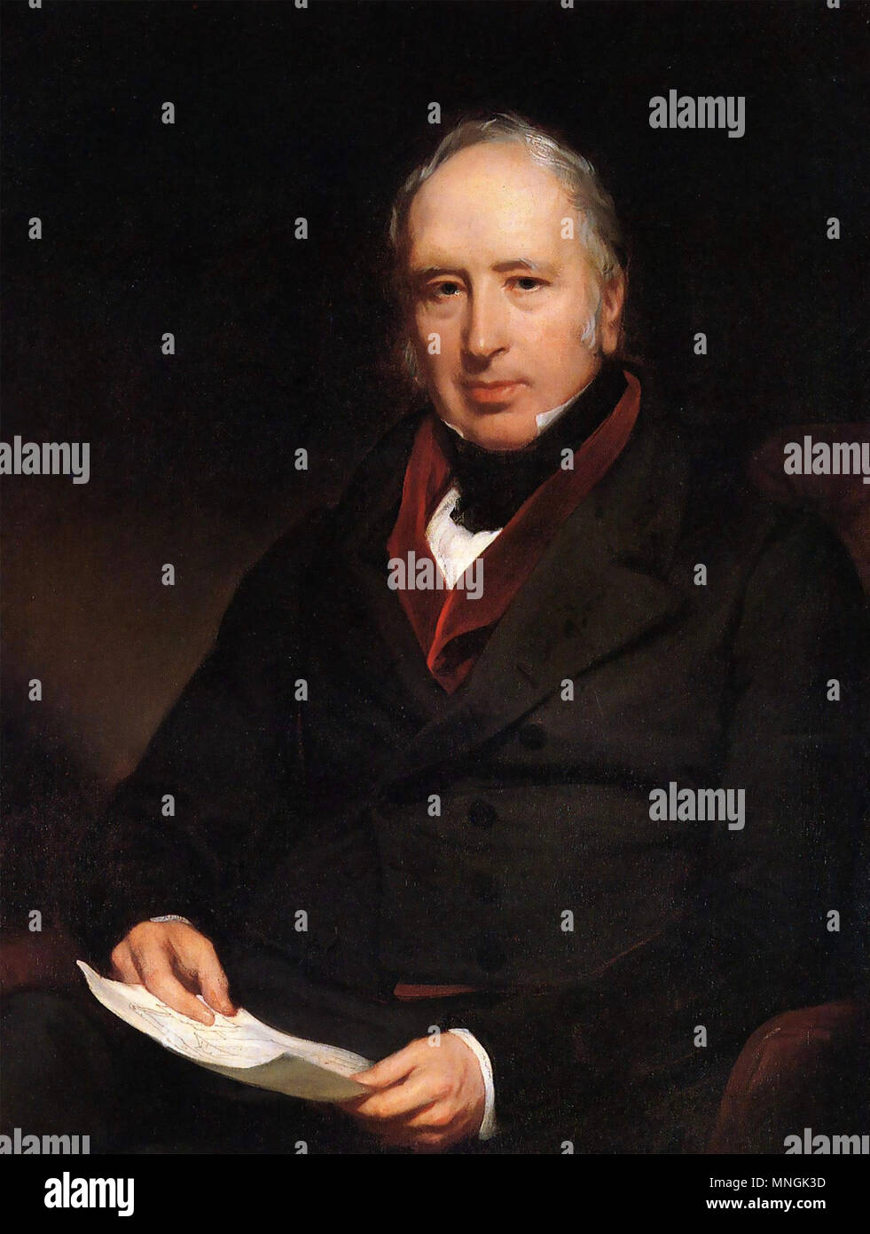GEORGE CALEY (1773-1857) English aviator,engineer and inventor - Stock Image