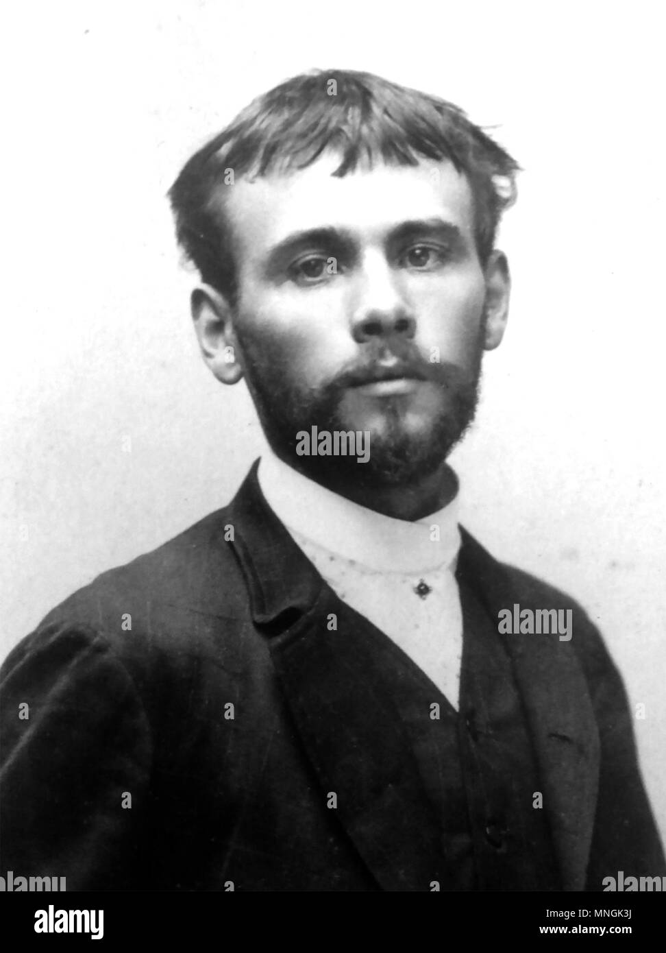 GUSTAV KLIMT (1862-1918) Austrian painter of the Vienna Secession Movement, photographed in 1887 - Stock Image