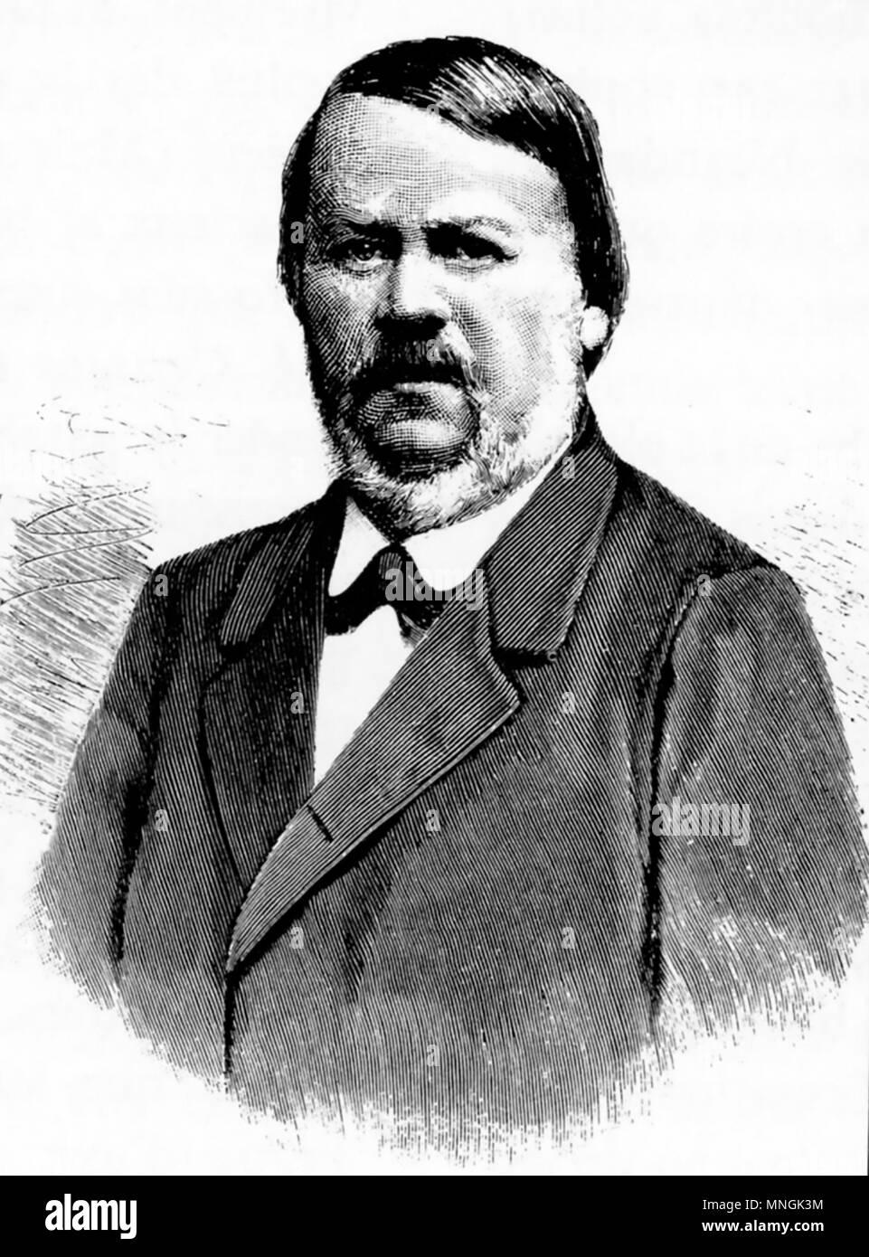 HERMANN SCHAAFFHAUSEN (1816-1893) German anatomist and anthropologist - Stock Image