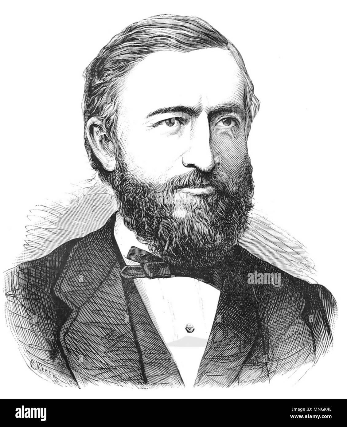 JOHANN PHILIPP REIS (1834-1874) German scientist and inventor - Stock Image
