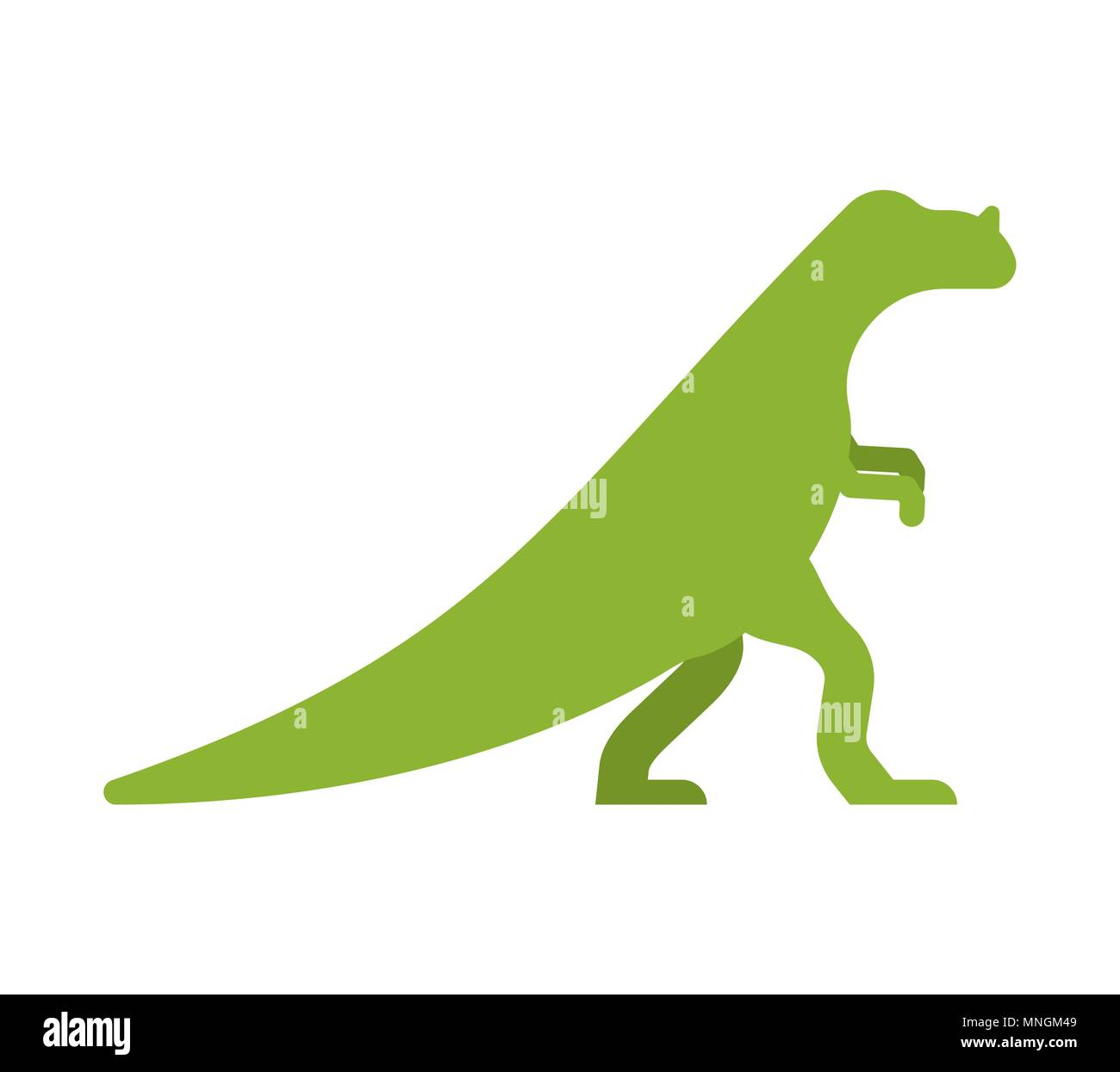 Ceratosaurus dinosaur isolated. Ancient animal. Dino prehistoric monster. Beast is Jurassic period. Vector illustration. - Stock Vector