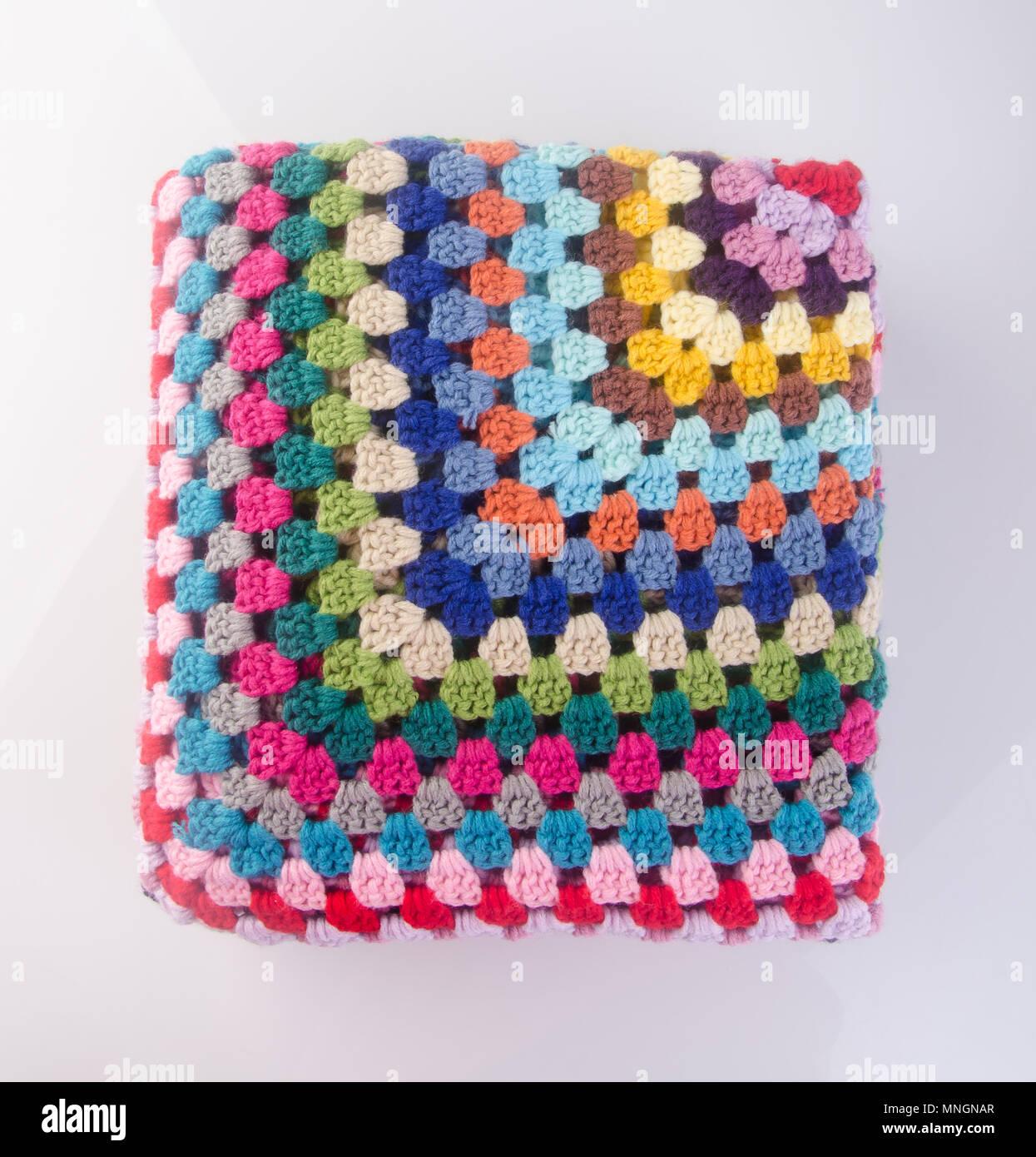 blanket or crochet blanket on a background MNGNAR