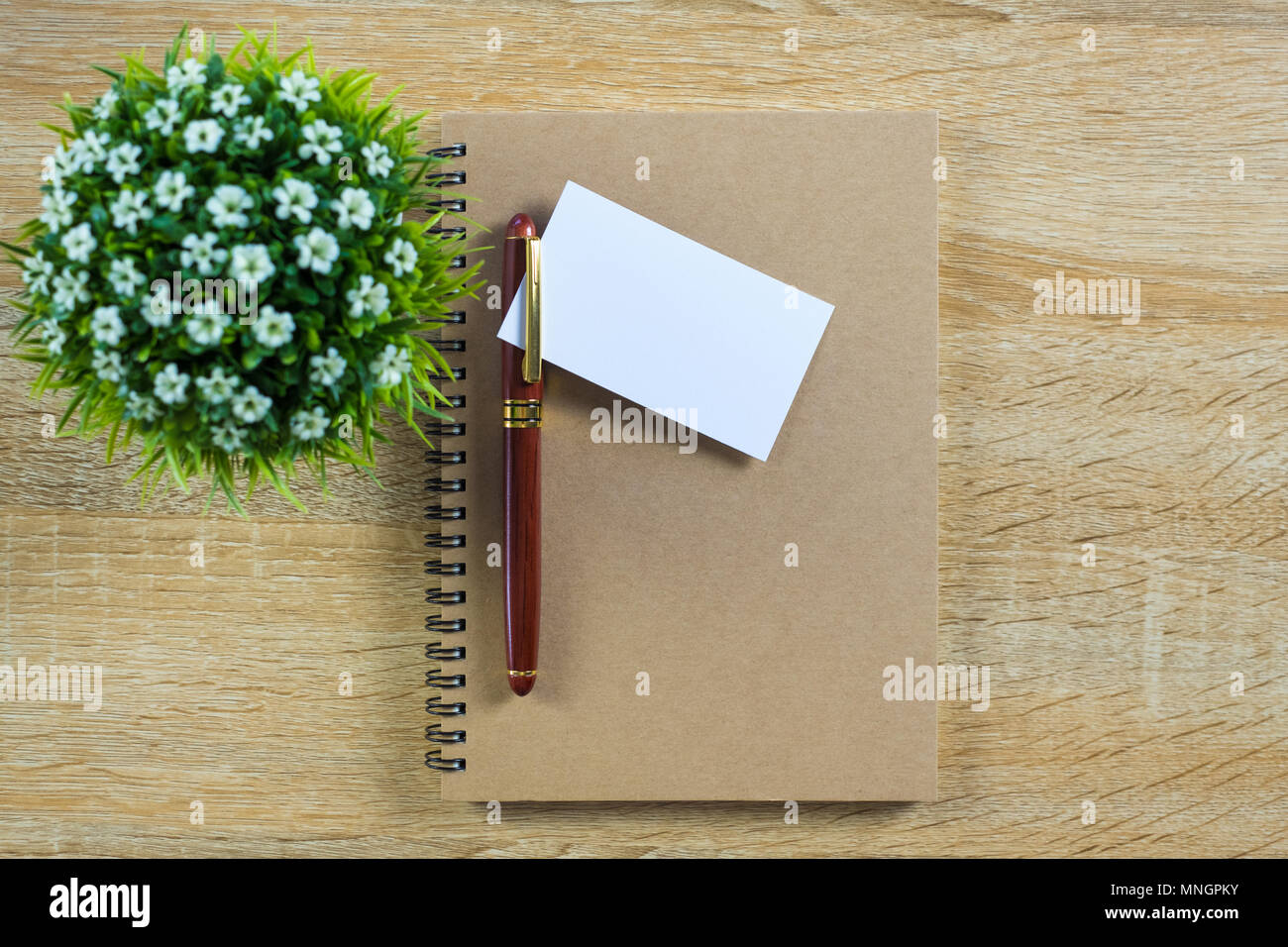 Blank business card or name card with space for add text name blank business card or name card with space for add text name address and logo with notebook organizer on working table financial company concept ide colourmoves