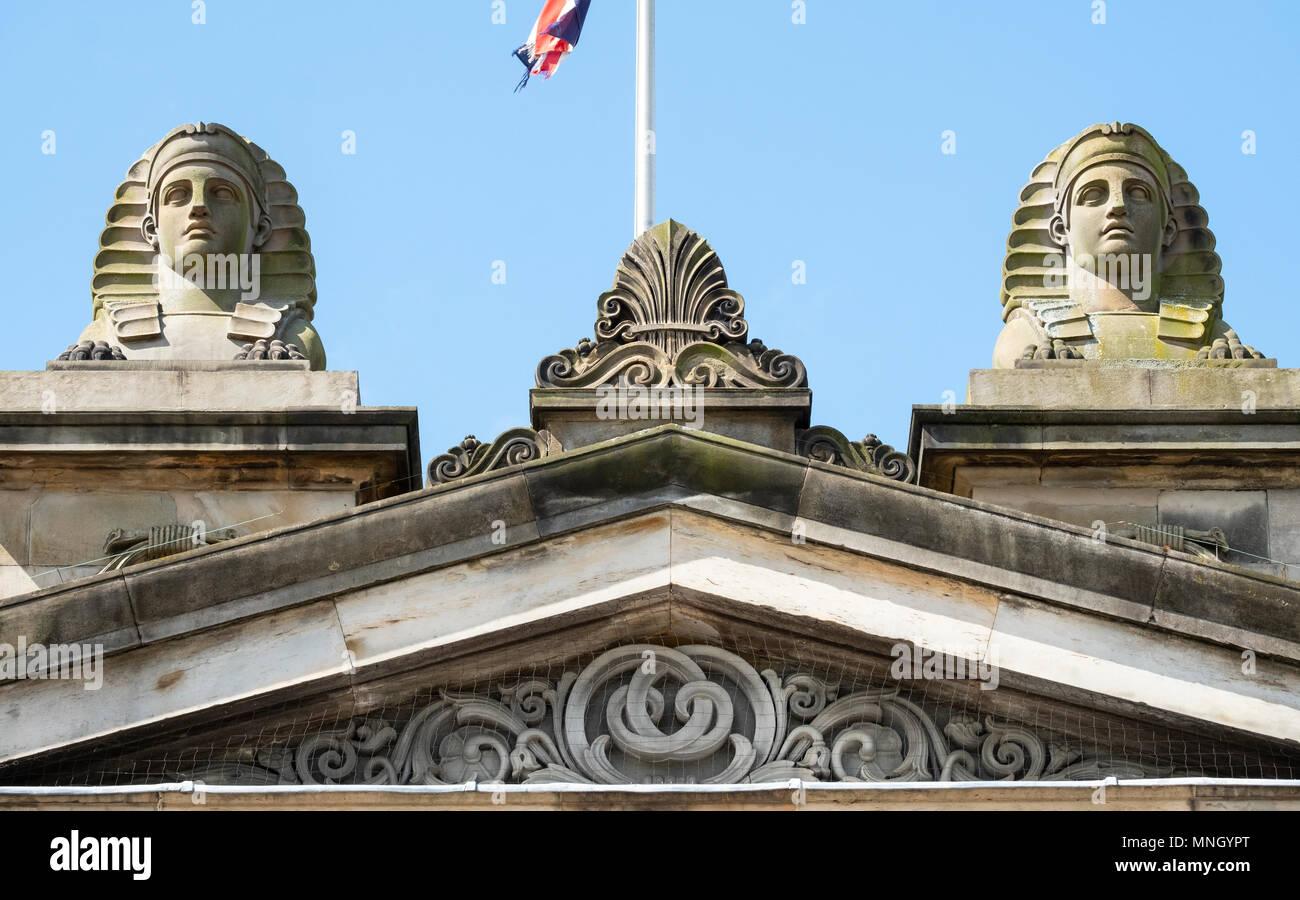 Exterior of the Royal Scottish Academy, art museum , on The Mound in Edinburgh, Scotland, United Kingdom, UK. Stock Photo