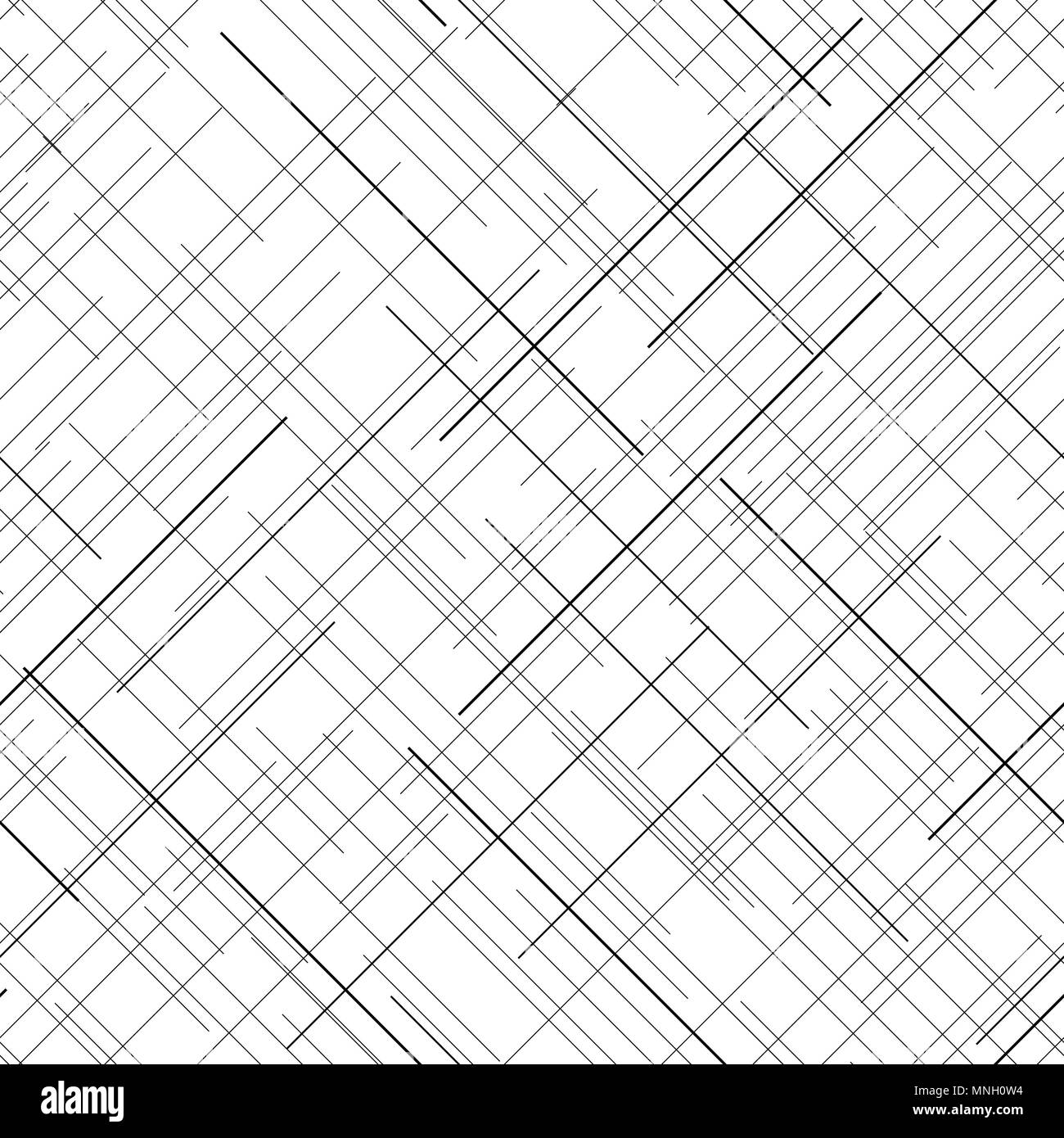Plaid Fabric Texture Random Lines Seamless Pattern Abstract Monochrome Plain For Wallpaper Or