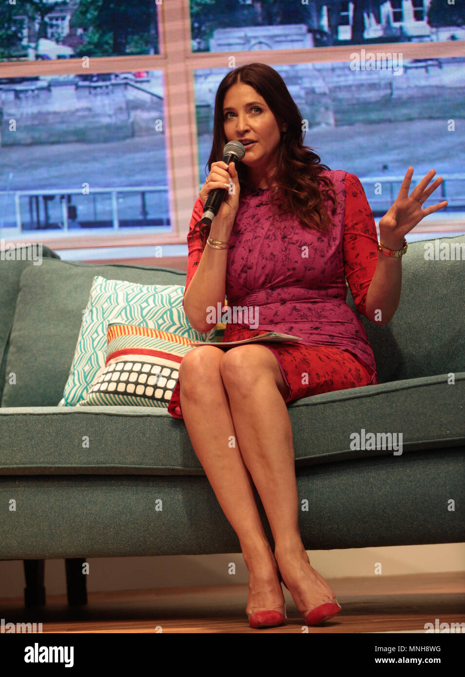 Birmingham UK 17 May 2018 This Morning live show in the NEC ,hLisa Snowdon's,Jtalking about fashion in the stage Credit: Paul Quezada-Neiman/Alamy Live News - Stock Image