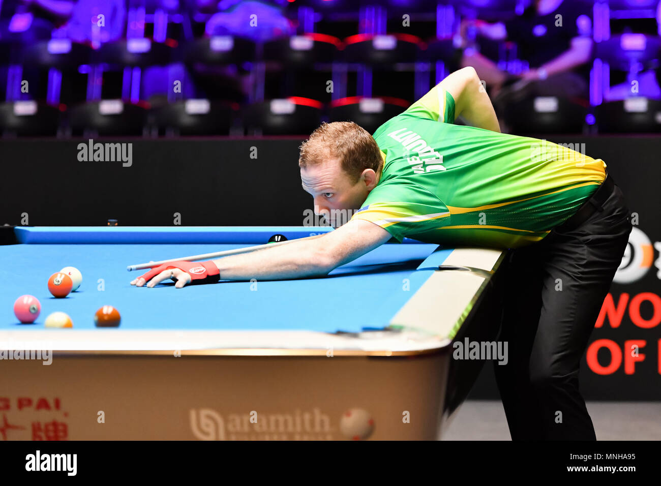 Australia's James Delahunty during WORLD CUP of POOL 2018: Round 1 - Australia vs Russia at Luwan (Gymnasium) Arena on Thursday, 17 May 2018. SHANGHAI, CHINA. Credit: Taka G Wu - Stock Image