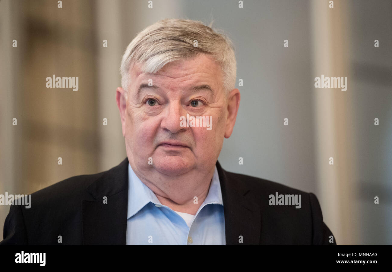 17 May 2018, Germany, Stuttgart: Former Foreign Secretary Joschka Fischer (Alliance 90/The Greens) during a reception dedicated to the 70th birthday of Baden-Württemberg's Premier Kretschmann. Photo: Marijan Murat/dpa - Stock Image