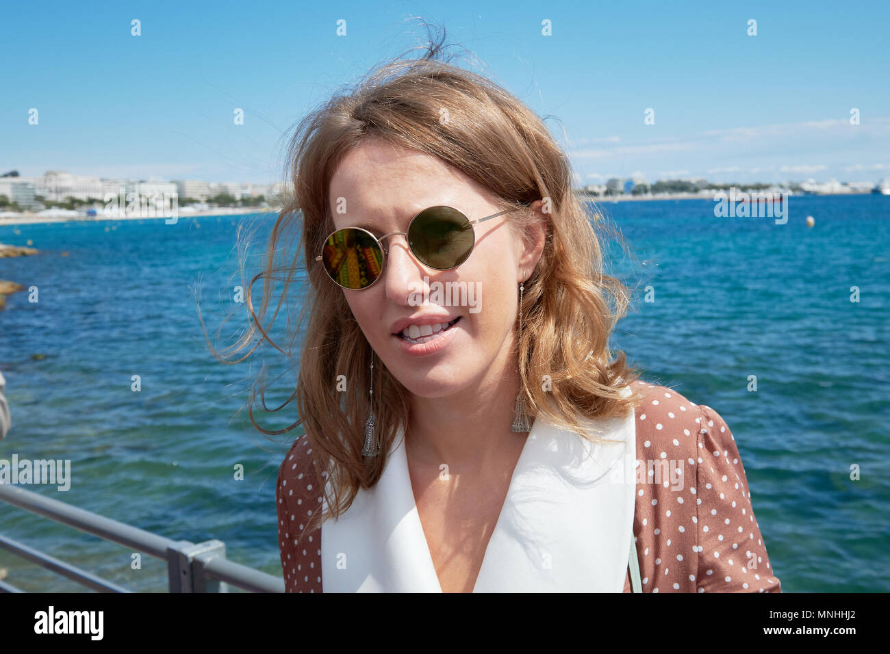 Sobchak with her husband went to France for a honeymoon 02/21/2013