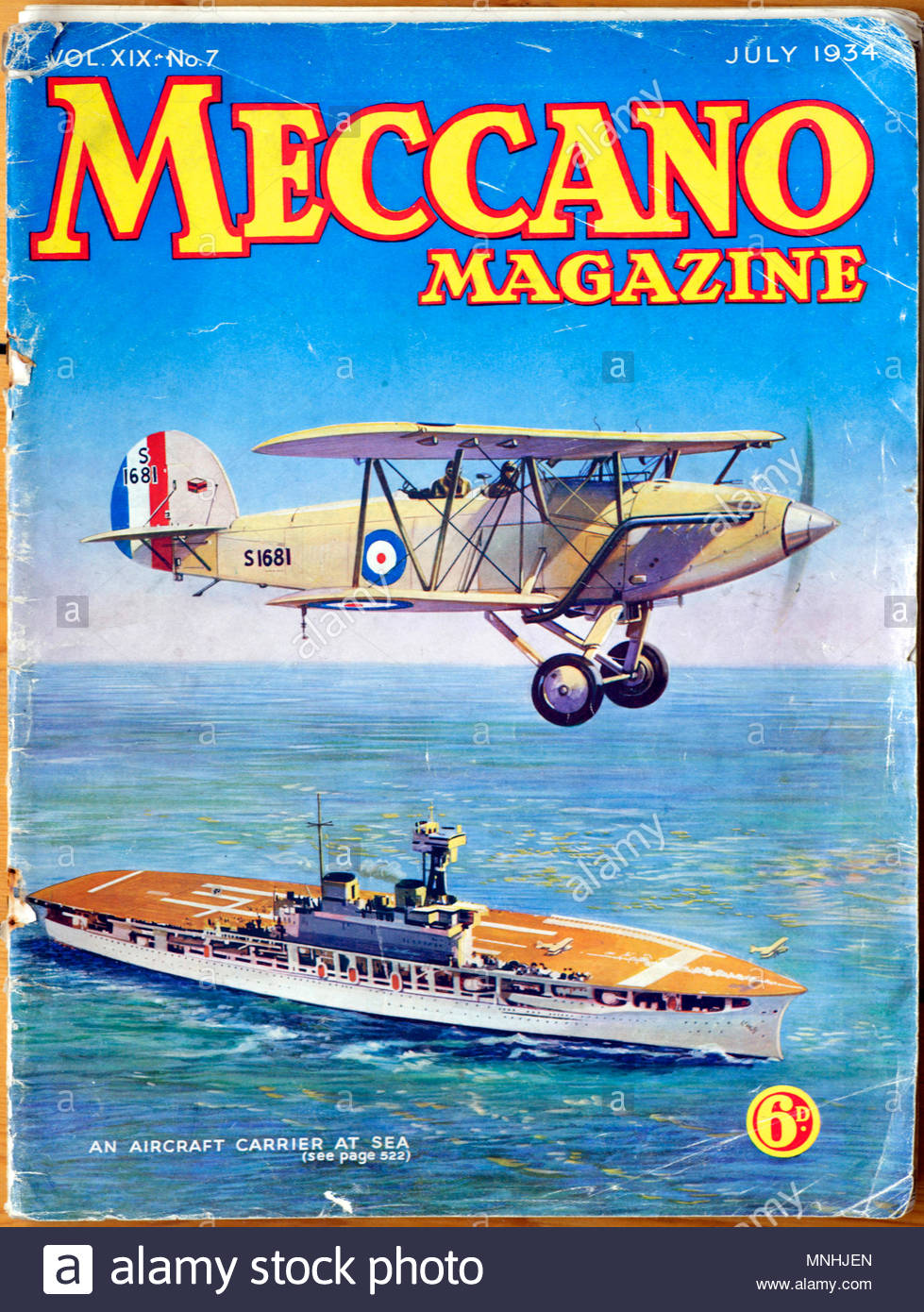 Meccano Monthly Magazine, July 1934 - Stock Image