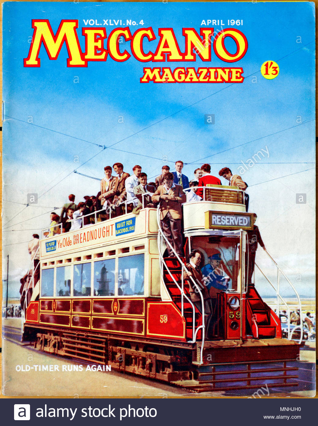 Meccano Monthly Magazine, April 1961 - Stock Image