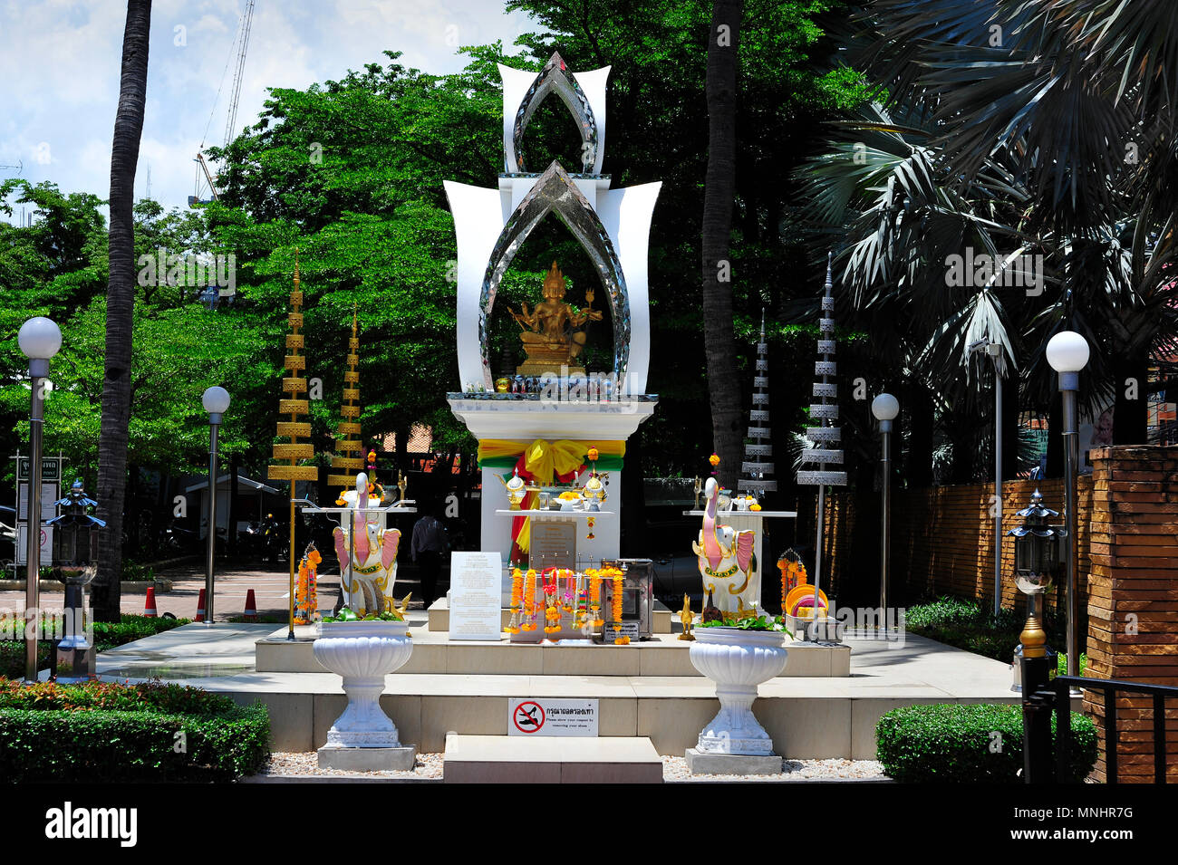 Buddhist Imagery at Avani Hotel Pattaya Thailand - Stock Image