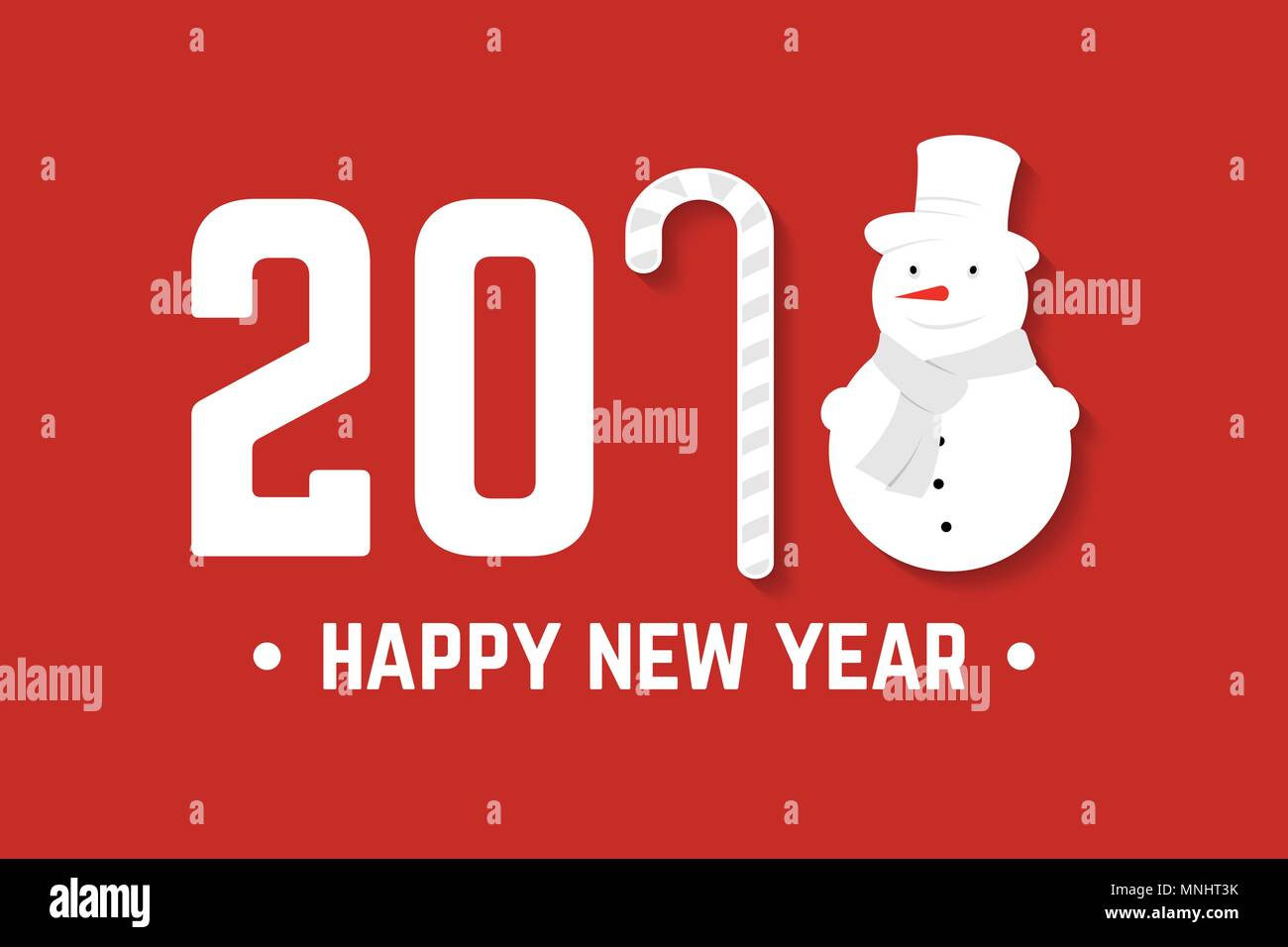 happy new year greeting card vector illustration 2018 design for