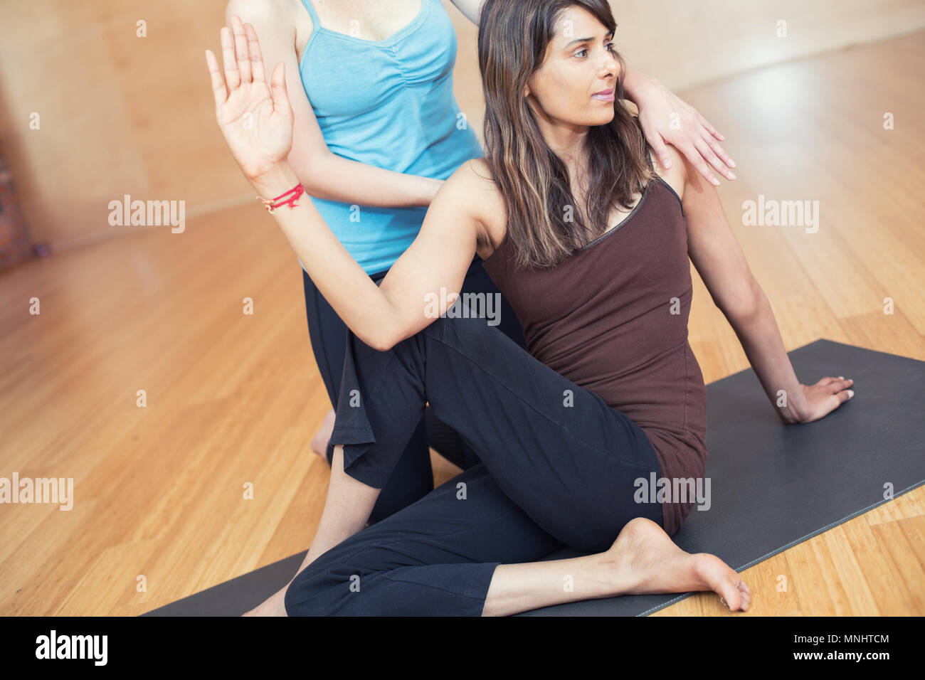 Two People Practice Yoga Partner High Resolution Stock Photography And Images Alamy