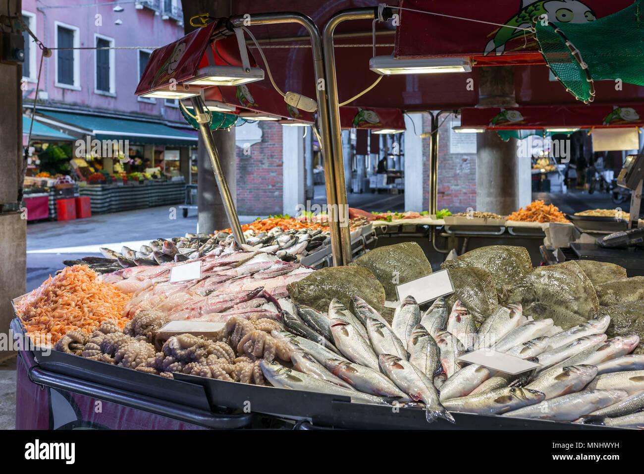 Mercato Ittico Di Rialto Is A Venetian Fish Market In Venice Italy