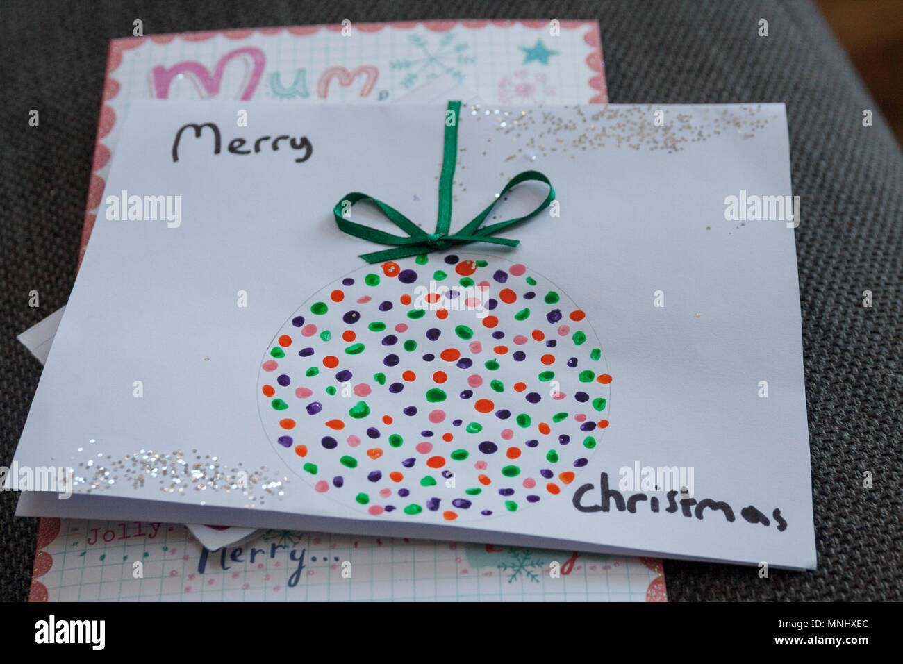 Ideas For Christmas Cards For Children.Homemade Children Child Kids Christmas Card Markers