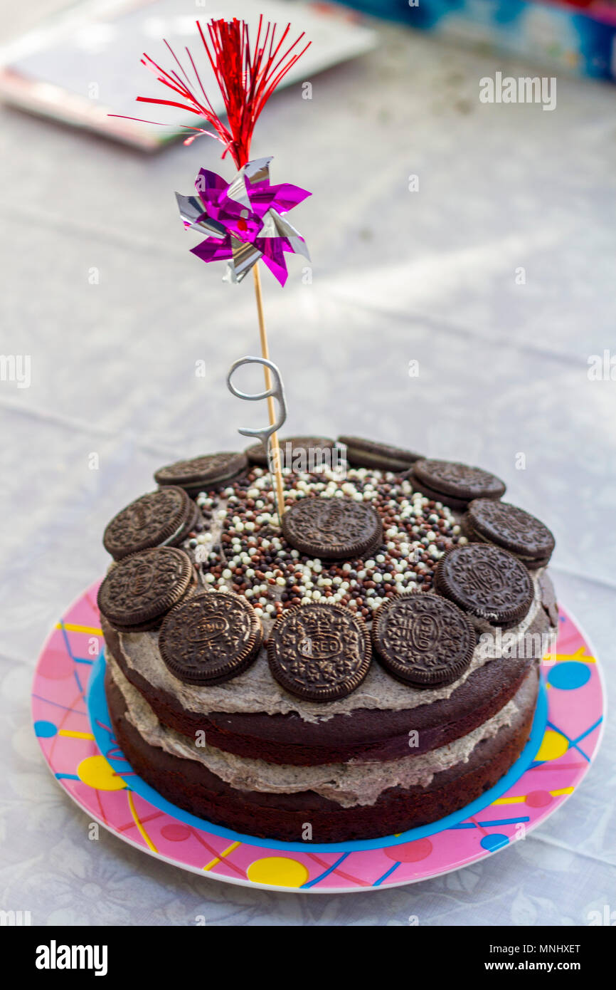 Oreo Biscuit Chocolate Birthday Cake Children Child Kid Party Buttercream Oreos Childhood Memories Kids Concept