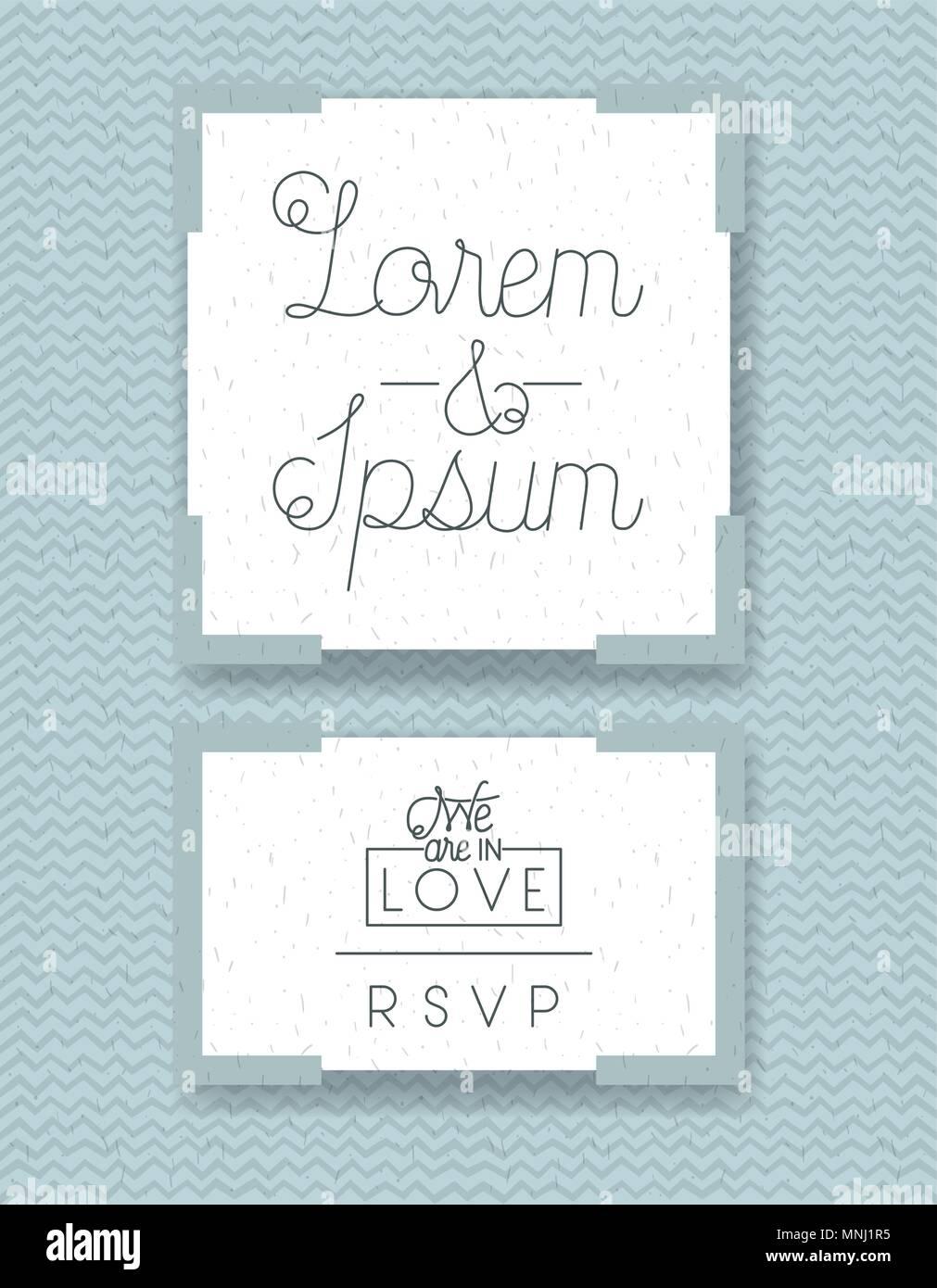 Wedding and married invitation set cards stock vector art wedding and married invitation set cards stopboris Choice Image