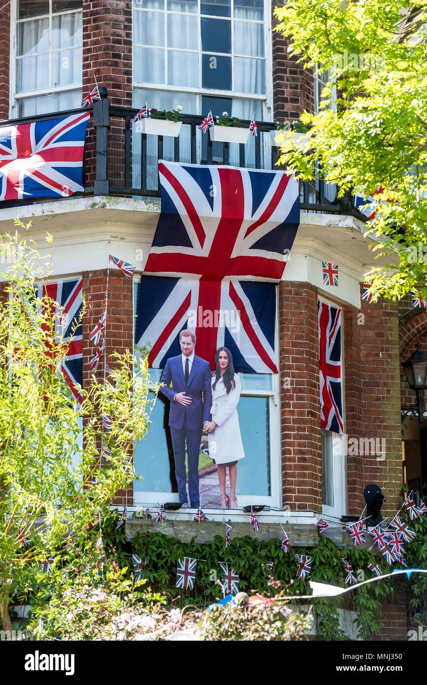 Decorations Bunting Ad Flags On The House Of Royal Wedding