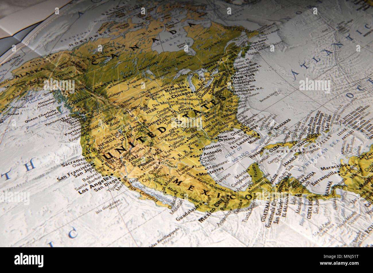 Map Mexico Canada Stock Photos & Map Mexico Canada Stock ...