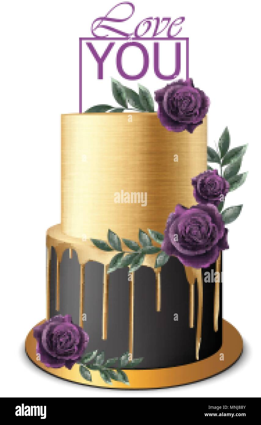 Royal Wedding Cake Stock Vector Images - Alamy