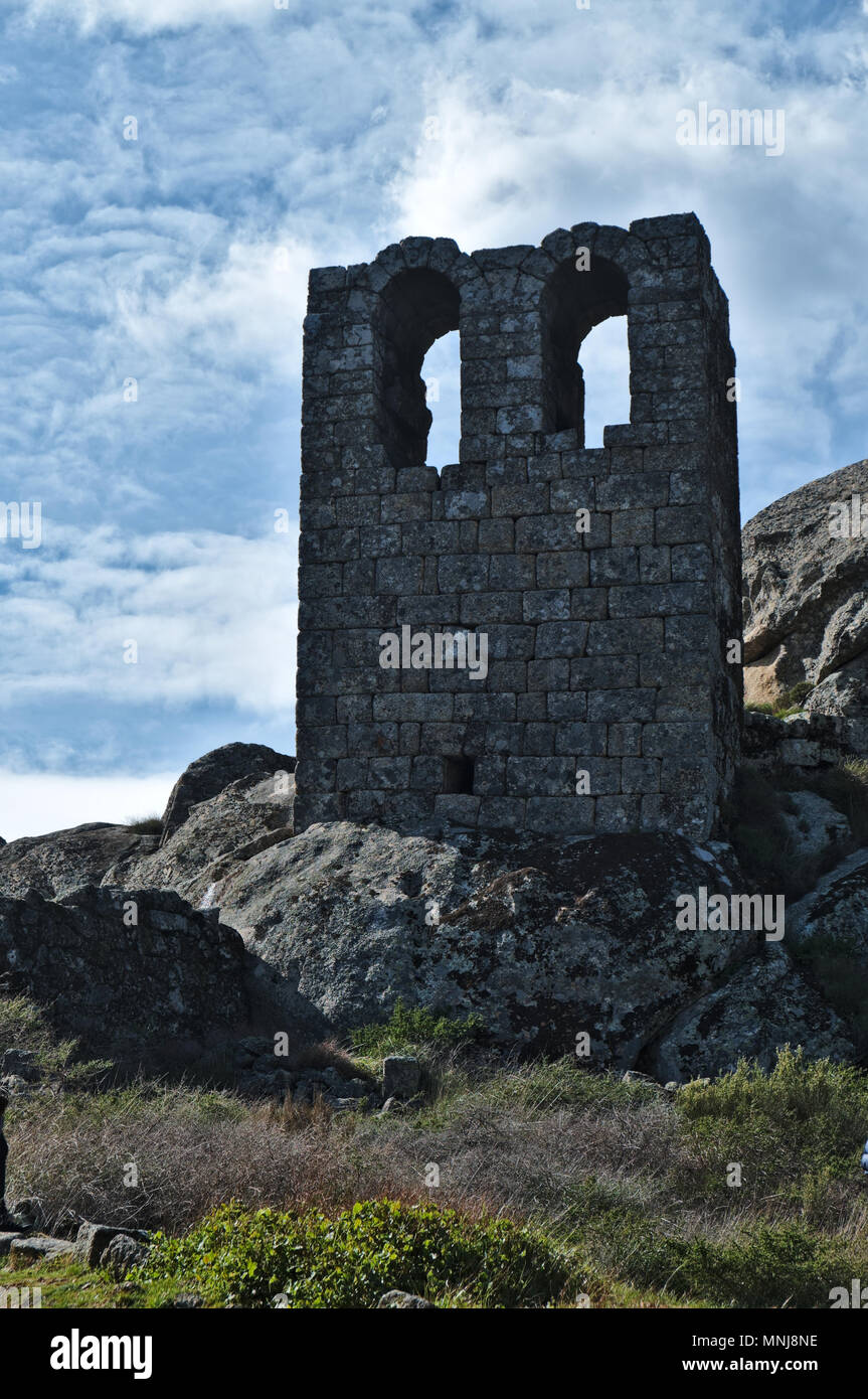 Sao Miguel Chapel in Monsanto. Castelo Branco, Portugal Stock Photo
