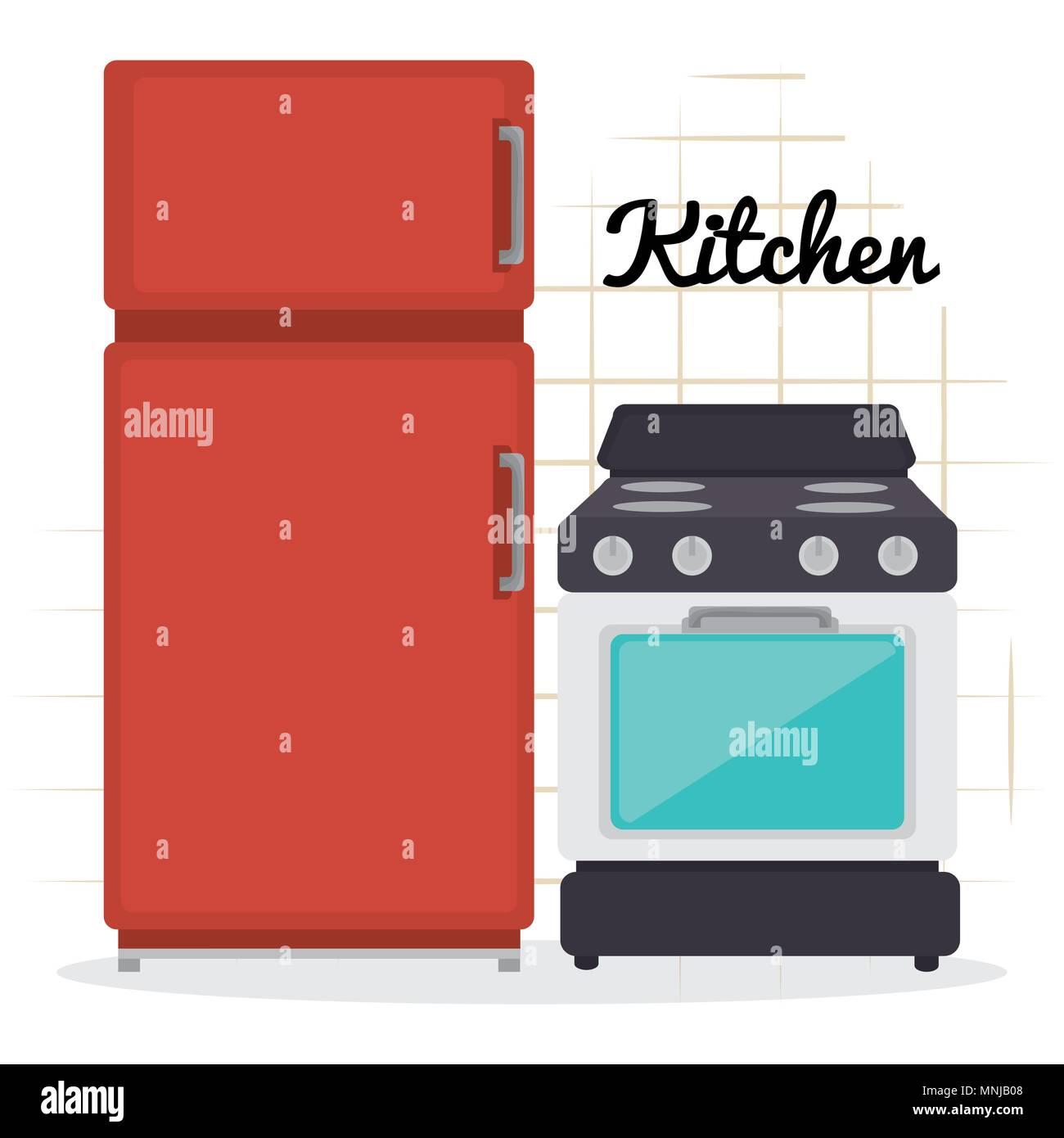 kitchen utensils equipment icons - Stock Vector