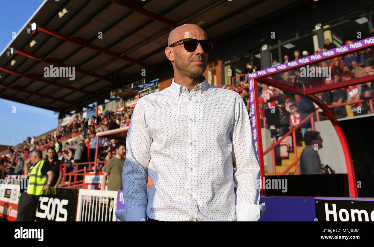 Exeter City manager Paul Tisdale during the Sky Bet League