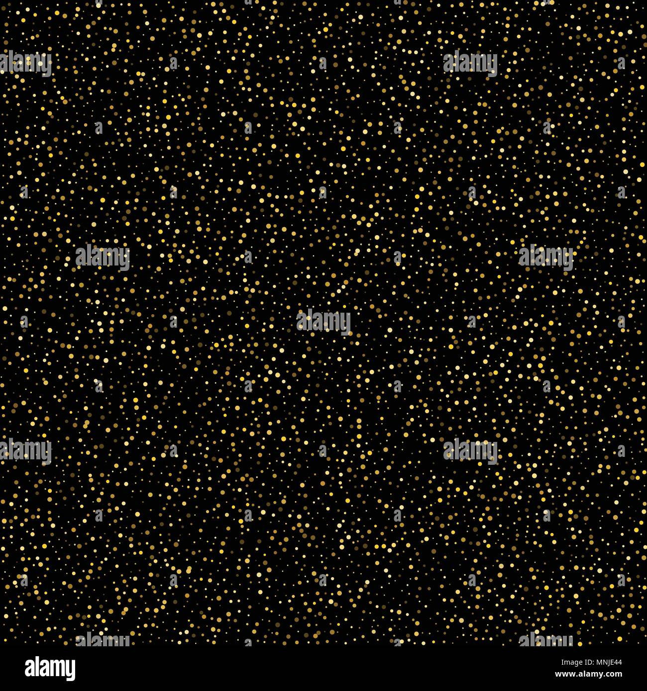 golden glitter sparkle bubbles champagne particles stars on black backgroundhappy new year holiday concept