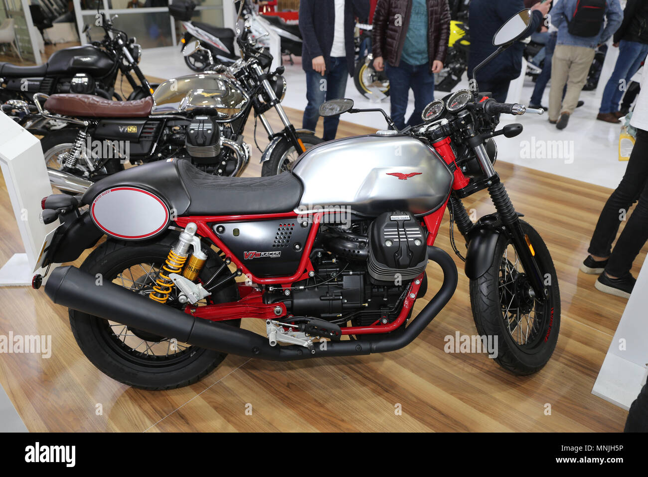 Istanbul Turkey February 25 2018 Moto Guzzi V7 Iii Racer On