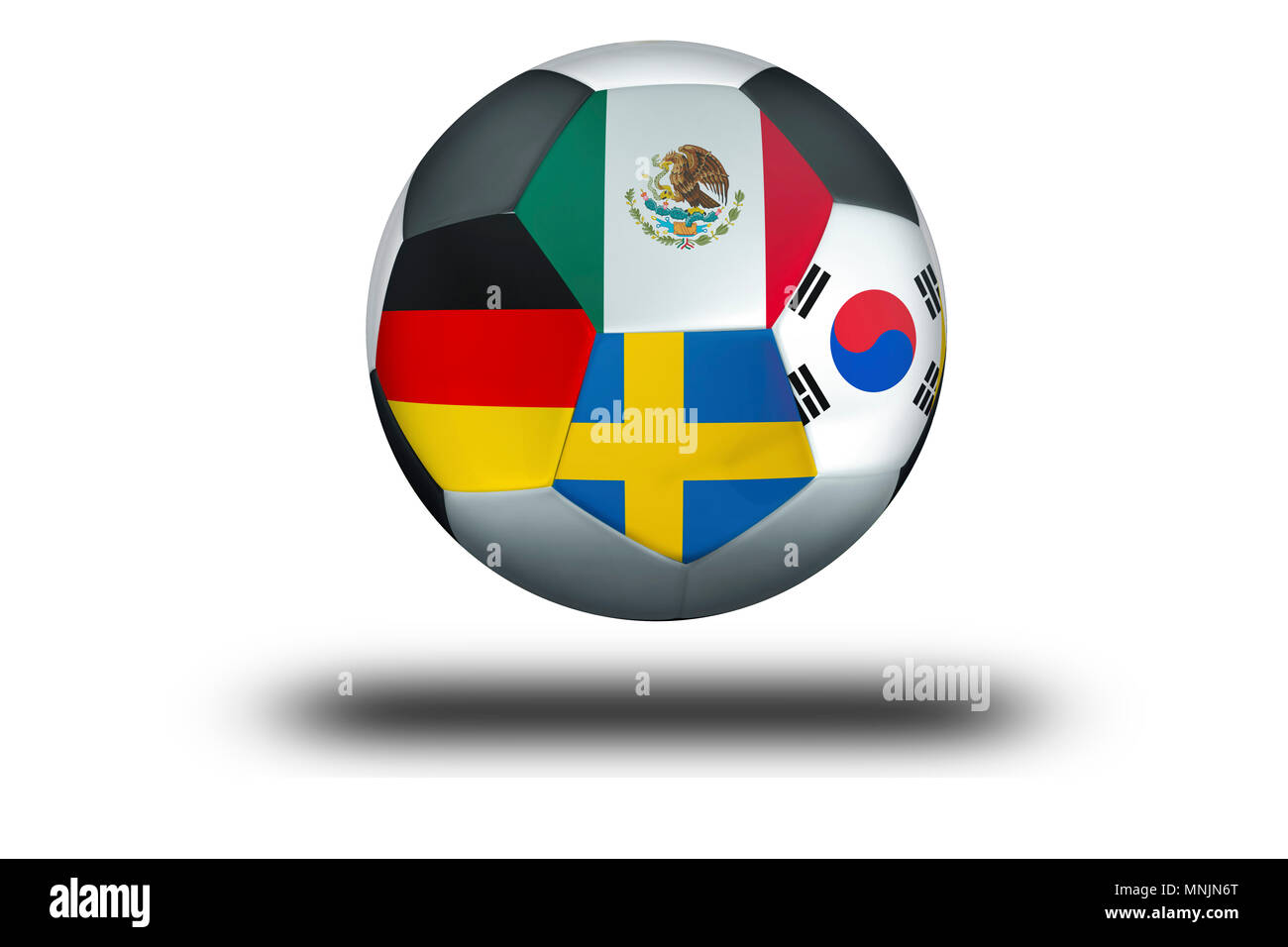 Football Group F Mexico, Germany, Sweden, South Korea - Stock Image