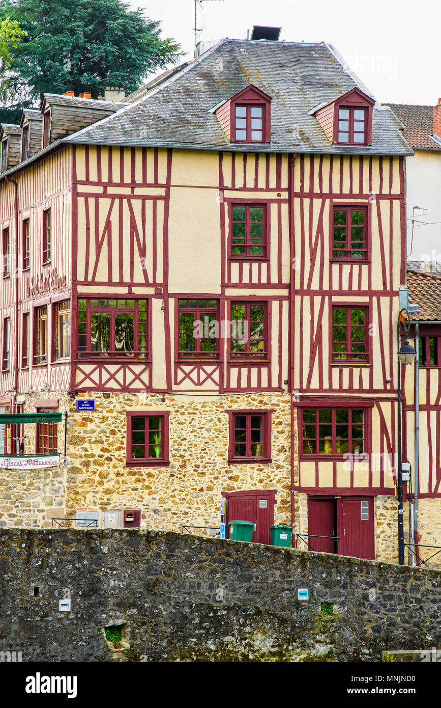 Superb Half Timber Framed Houses In Old Limoges Limusine Region Beutiful Home Inspiration Papxelindsey Bellcom