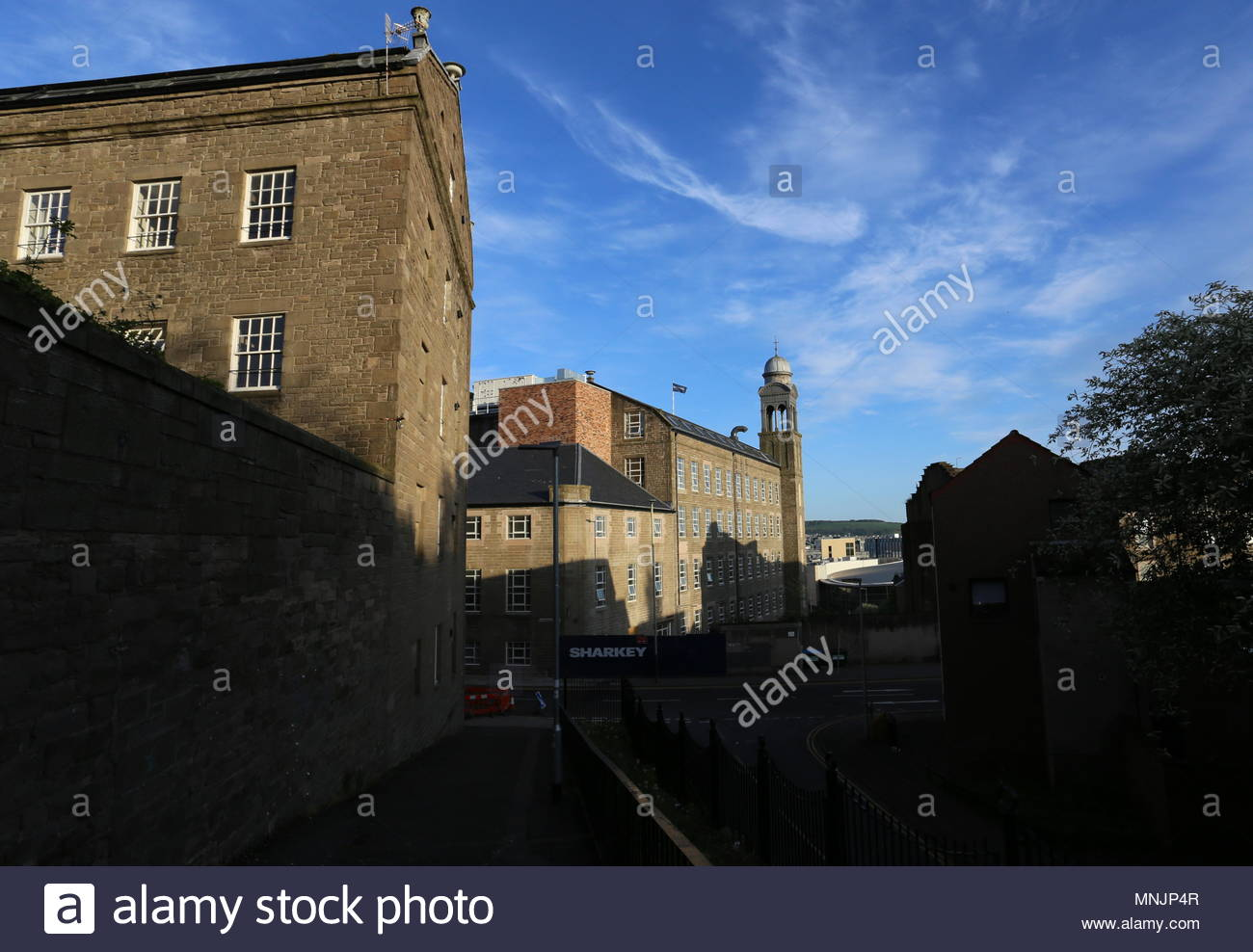 Former Baxter Brothers Mills being refurbished into Hotel Indigo Dundee Scotland  May 2018 - Stock Image