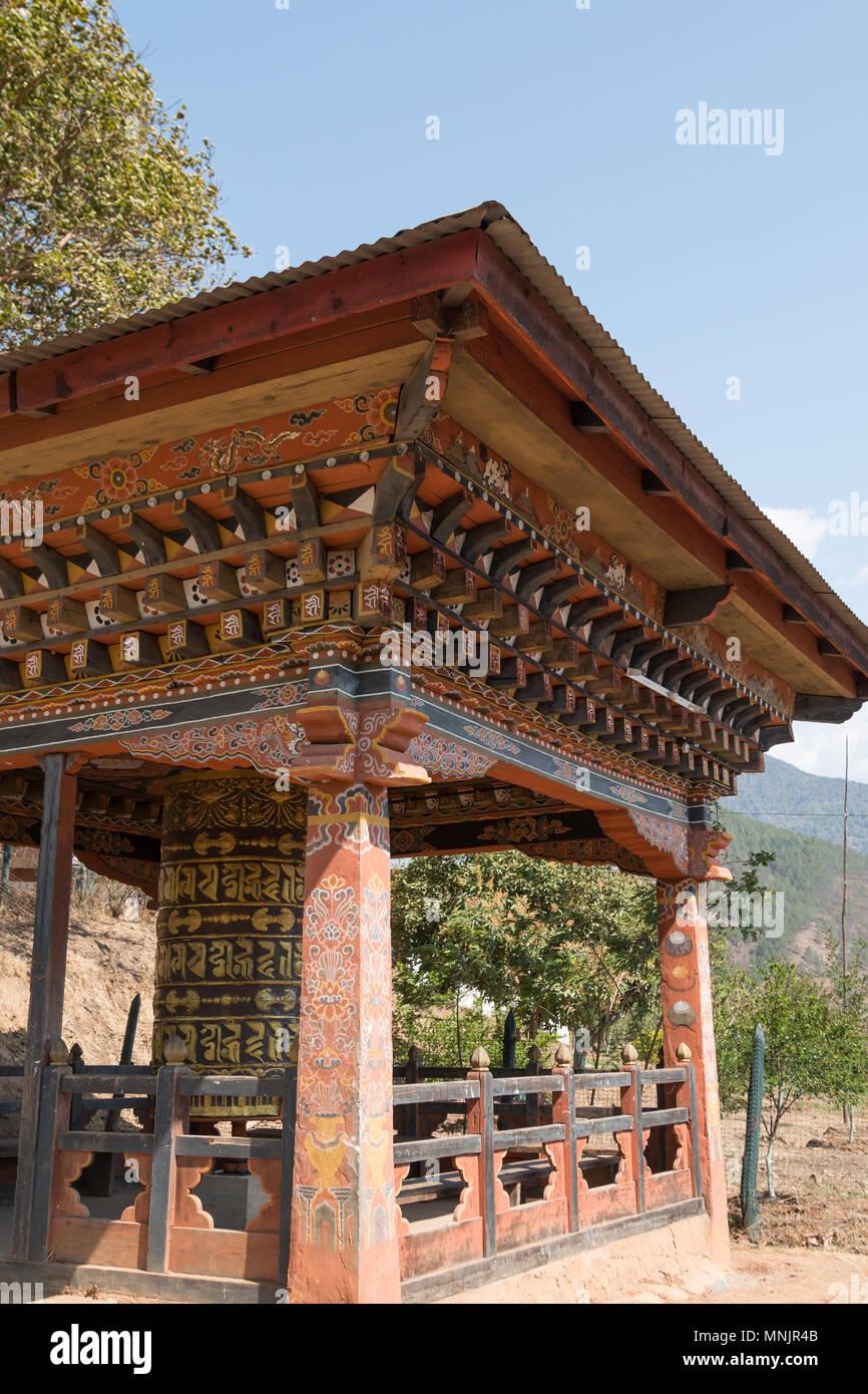 Chimi Lhakhang, the Fertility Temple, in Punakha, Bhutan - Stock Image