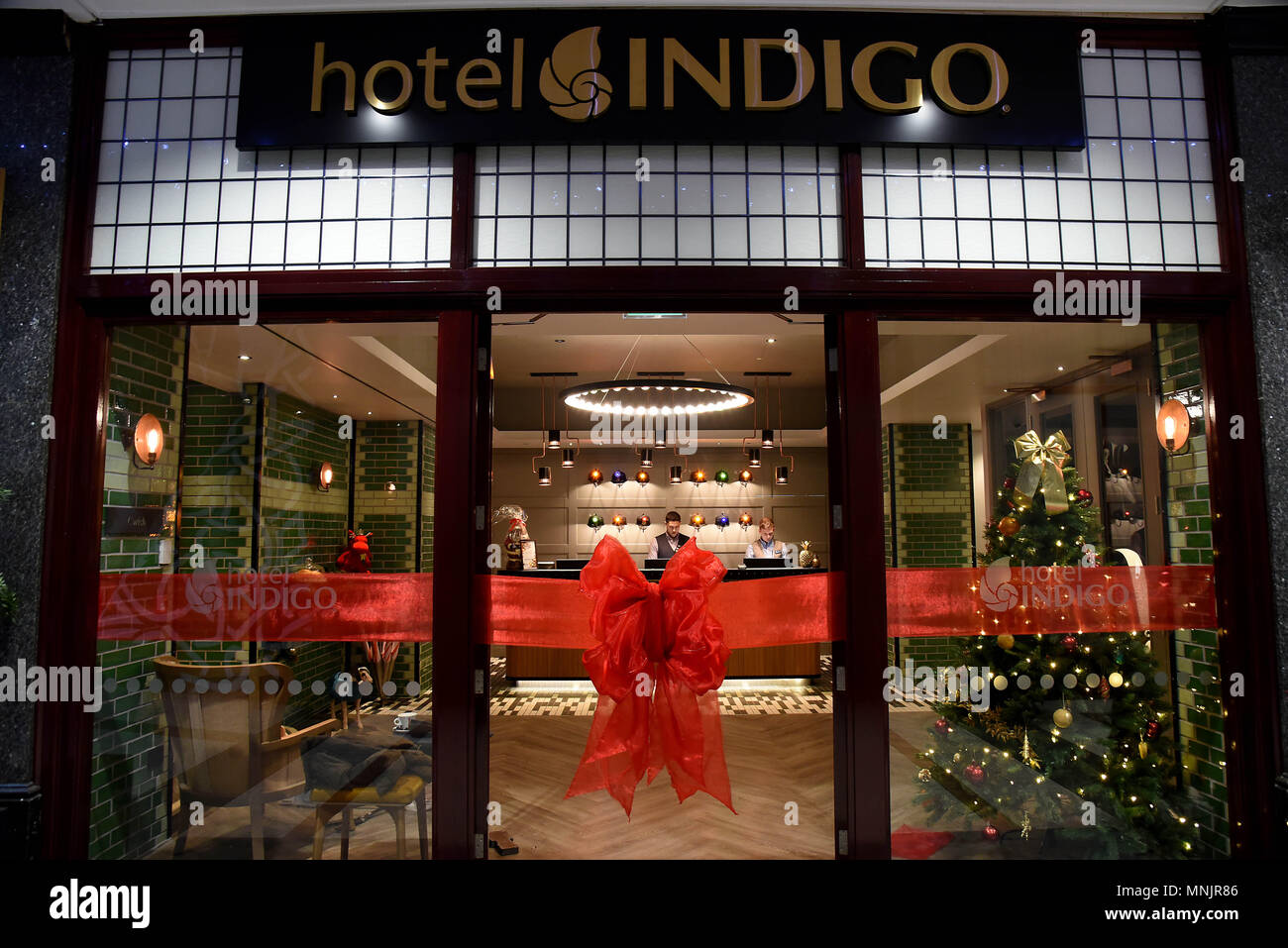 Hotel Indigo Cardiff, Dominions Arcade, Cardiff. An IHG Hotel. Pictures show interiors design and  exteriors - Stock Image