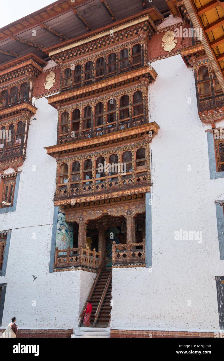 Punakha Dzong, also known as Pungtang Dewa chhenbi Phodrang (meaning 'the palace of great happiness') in Punakha, Bhutan - Stock Image