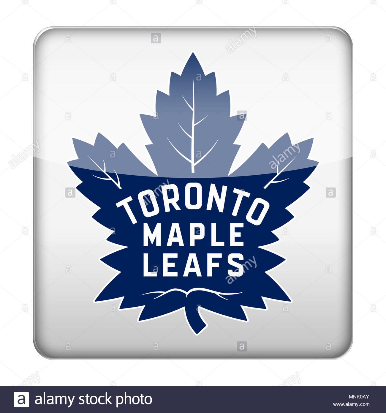 Toronto Maple Leafs icon logo - Stock Image