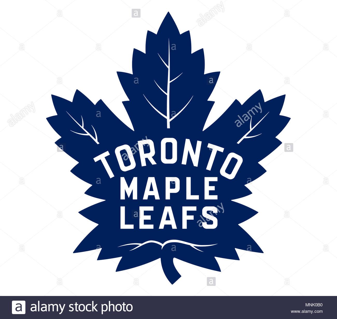Toronto Maple Leafs logo icon - Stock Image