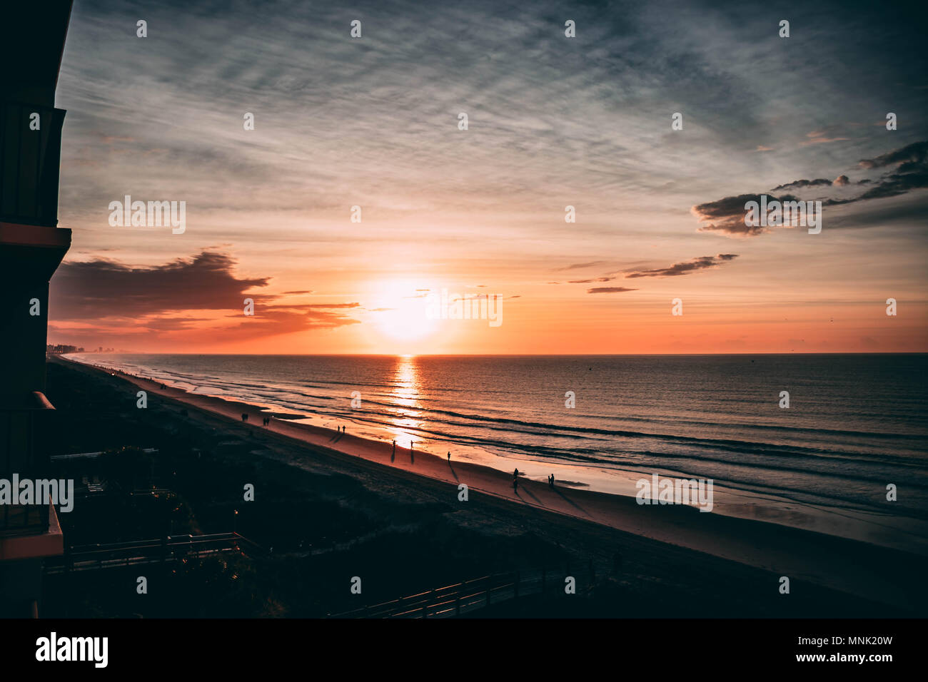 Beach Sunerise - Stock Image