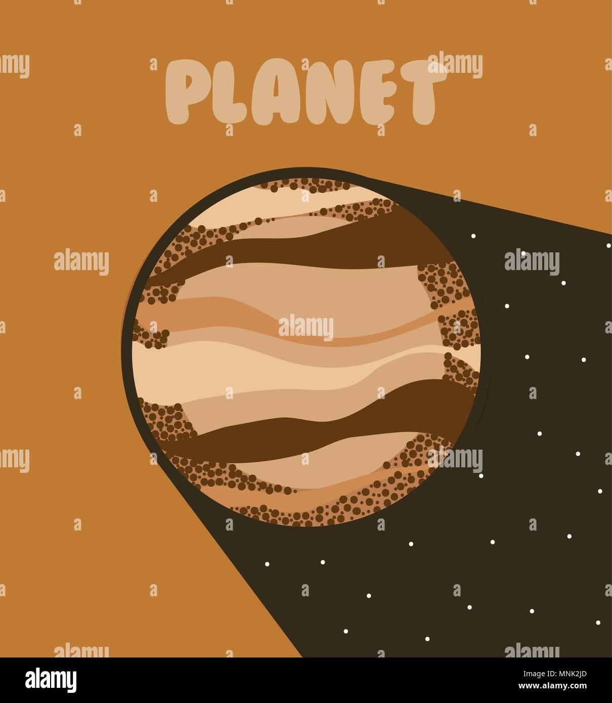 Venus milkyway planet - Stock Image