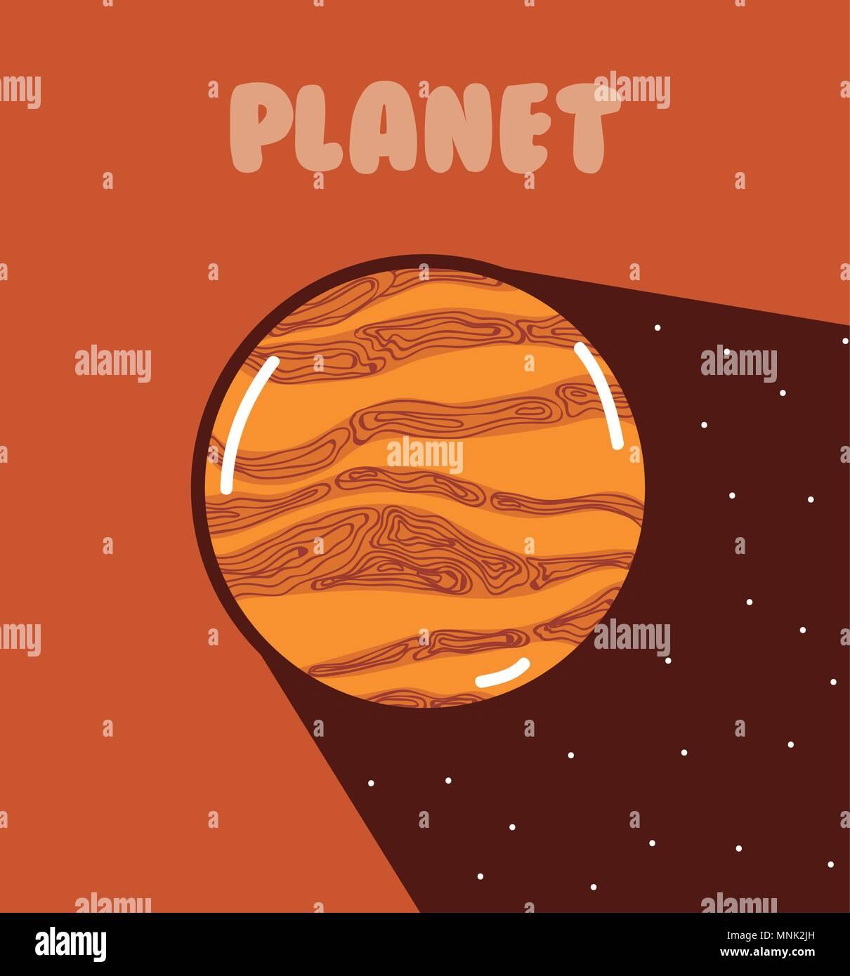 Jupiter milkyway planet - Stock Image