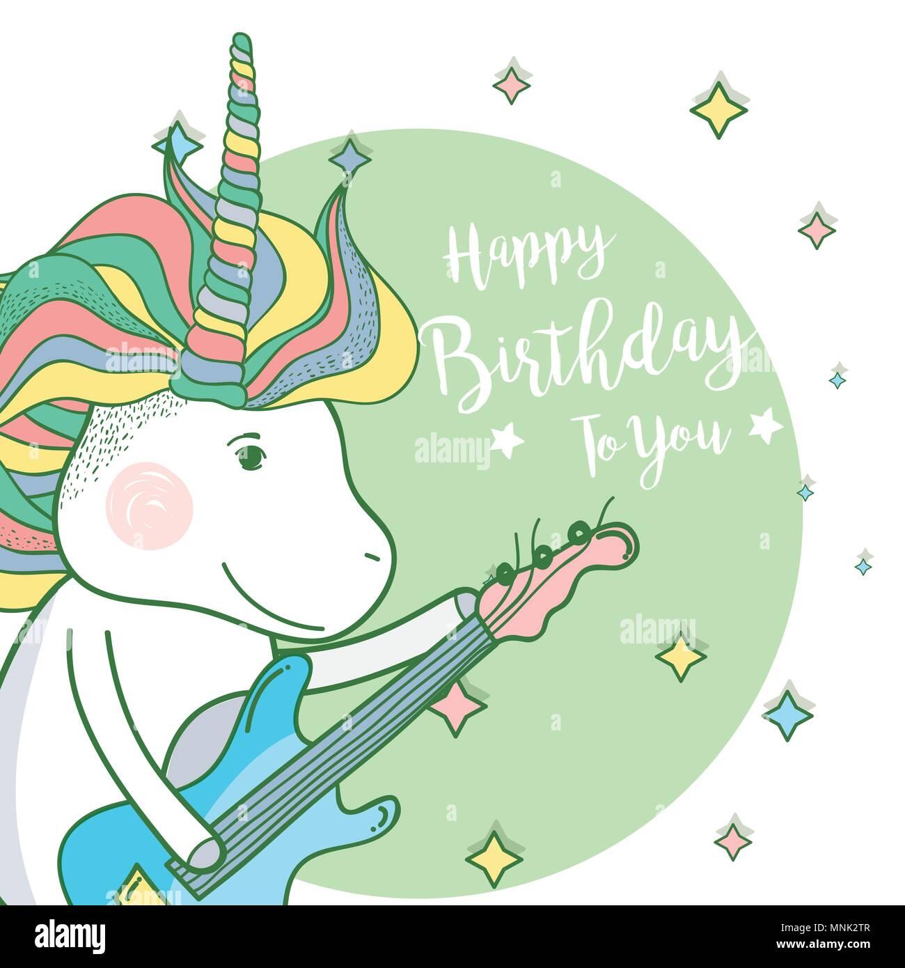 Happy Birthday Card Stock Vector Art Illustration Vector Image