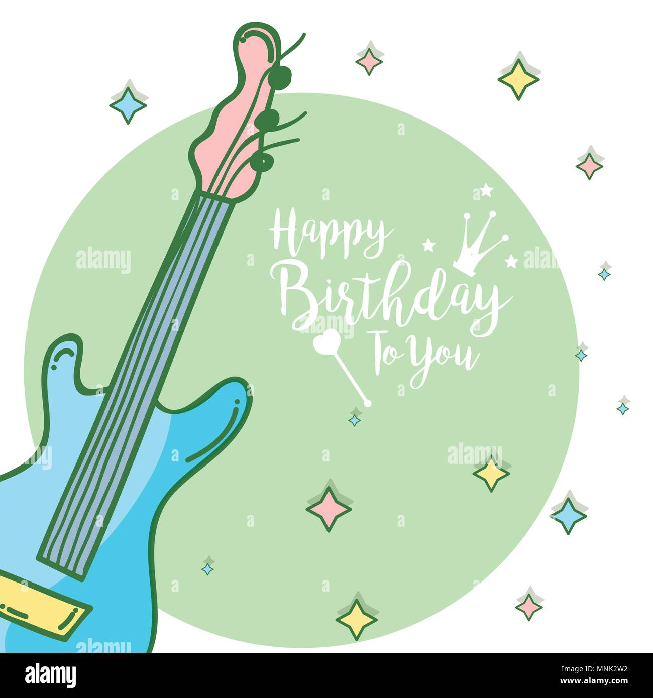 Happy Birthday Card Stock Vector Art Illustration Image