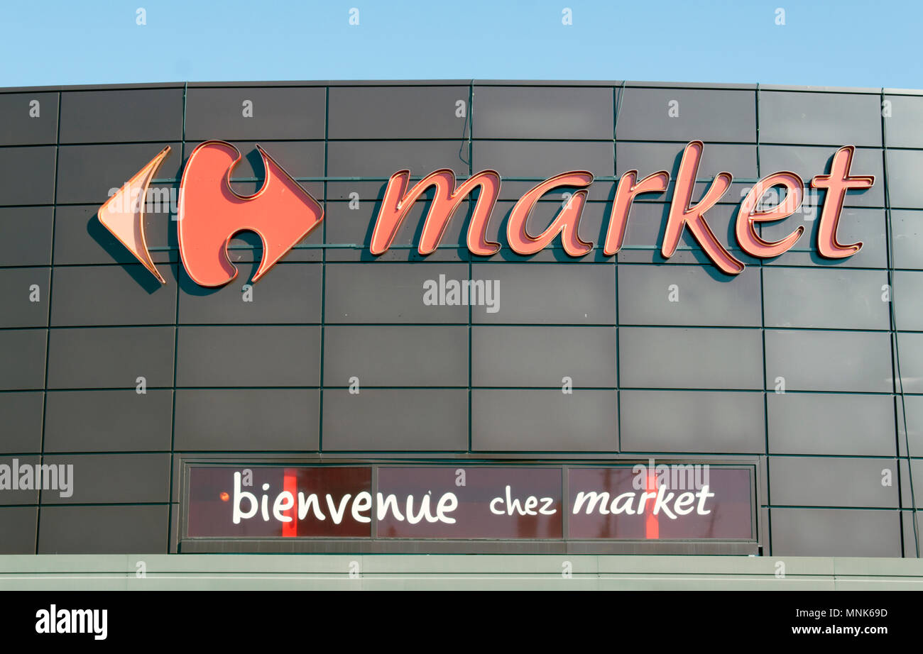 Paris France June 15 2017 Carrefour Market In Paris Stock Photo