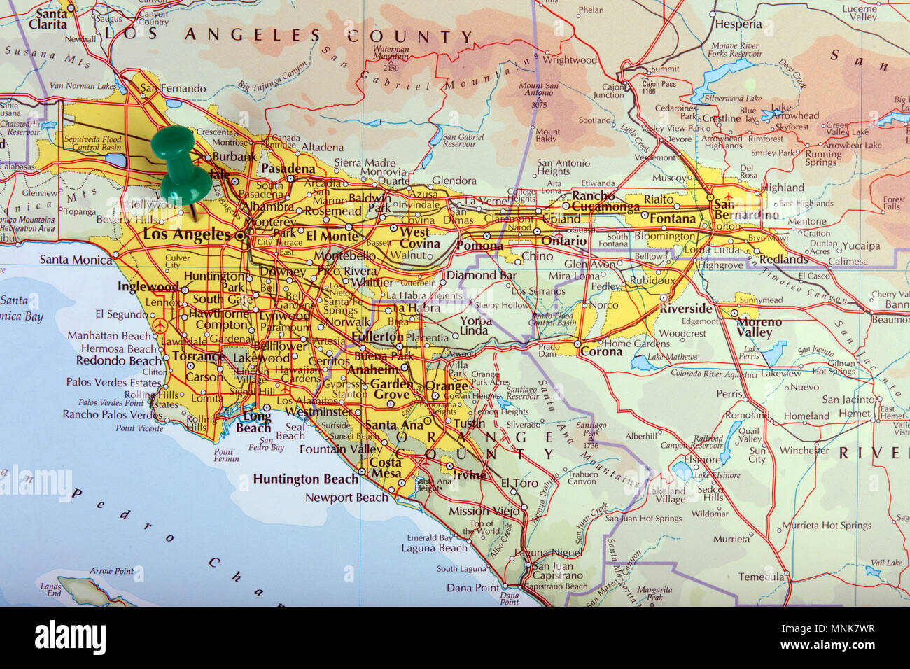 Map Of America Los Angeles.The Hague Netherlands April 9 2016 Map Of Los Angeles In The